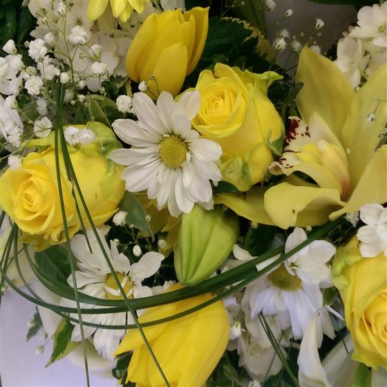 Florist Choice Yellow and White