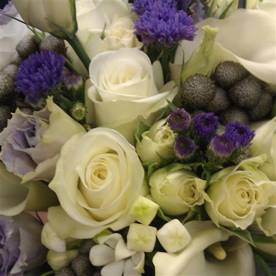 Florist Choice White, Lilac and Purple