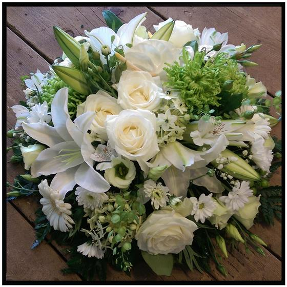 Clustered Country White Posy