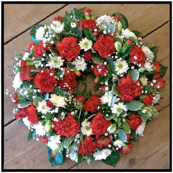 Red Carnation Wreath