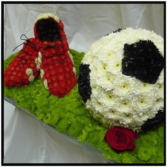 Football and Boots Floral Tribute