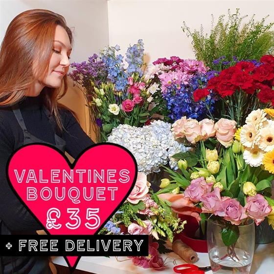Valentines Florist Choice Bouquet 35